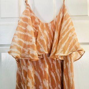 BCBG CHIFFON MAXI DRESS